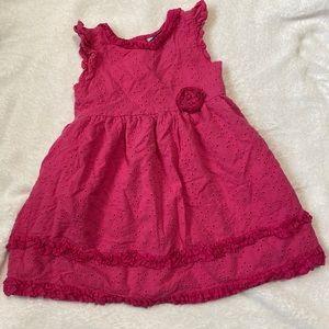 Toddler 3t Pink Eyelet Dress Chaps